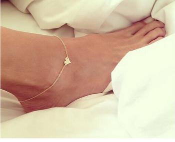 Новинка ювелирные изделия цепи сексуальная золото тон любовь в форме сердца ног ювелирные изделия в форме сердца ножные браслеты для девушки женщин