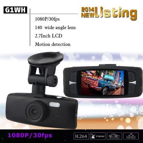 1080P CAR Dash DVR Vehicle Video Camera Recorder Cam G-sensor Night Vision G1WH(China (Mainland))