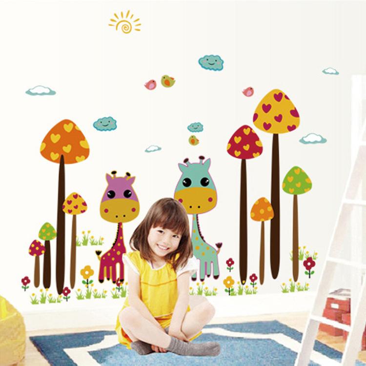 Paddestoel stickers koop goedkope paddestoel stickers loten van chinese paddestoel stickers - Muur kamer meisje ...
