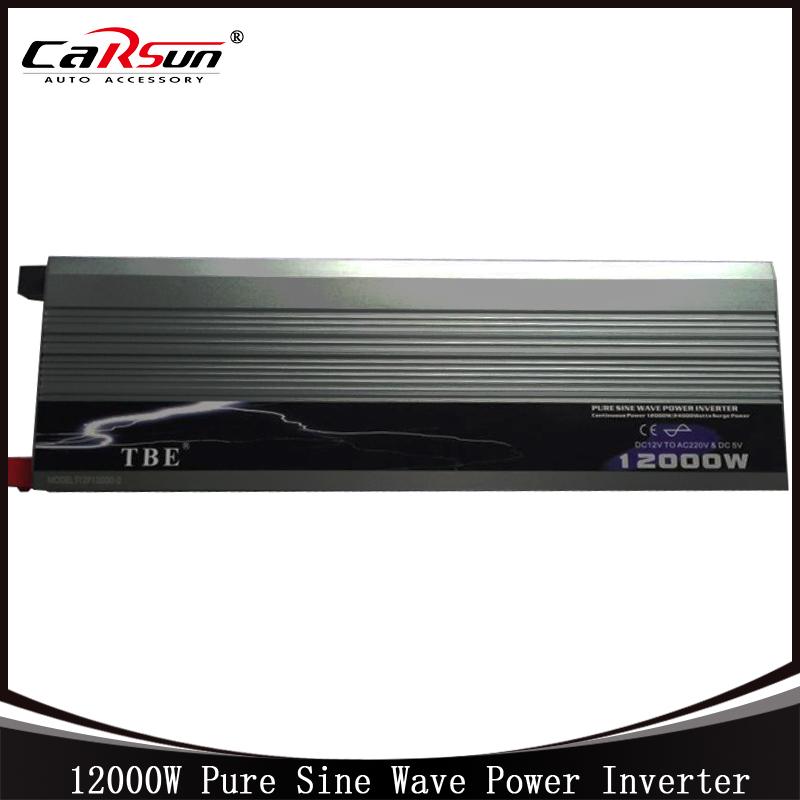 12000W Pure Sine Wave Inverter 12V to 220V With Usb Port Car Power Inverter Solar Power Inverter For Home /Boat /Solar(China (Mainland))