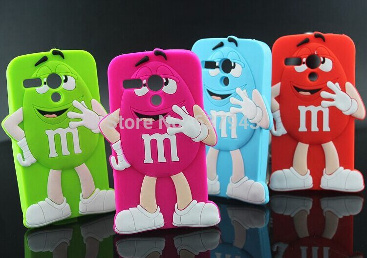 For Motorola Moto G Case New MR. M&M'S Chocolate Candy Rubber Phone Cases Cover For Motorola Moto G XT1028 XT1031 XT1032 XT1033(China (Mainland))