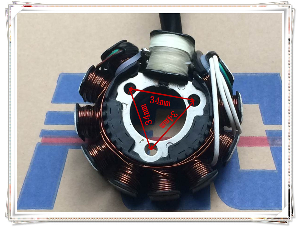 New high quality motorcycle scooter motorcycle stator coil ZY125cc stator coil 11 pole scooter stator coil
