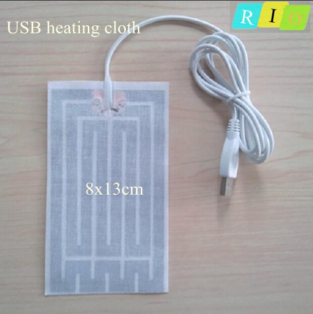 Foot warmer USB Electric Heating cloth 8 * 13cm new super warm cloth heated foot mats roupa da element(China (Mainland))