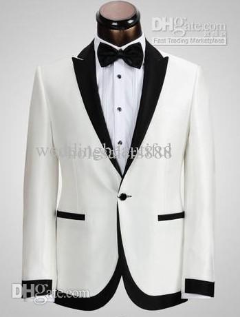 New Custom Made One Button Groom Tuxedos Best Man Peak Black Lapel Groomsmen Men Wedding Suits Bridegroom (Jacket+Pants+Tie+Gird(China (Mainland))