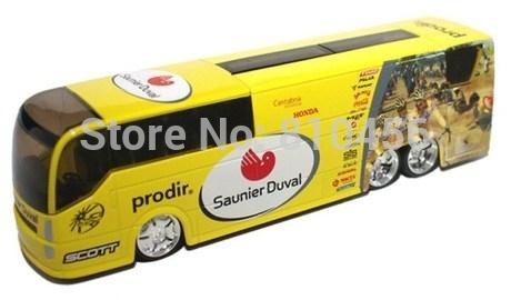 2Btoys INTERNATIONAL PROFESSIONAL CYCLING TEAMS Spain Saunier Duval Cycling Team Cycling Team Bus Diecast Model 1:50 Limited(China (Mainland))