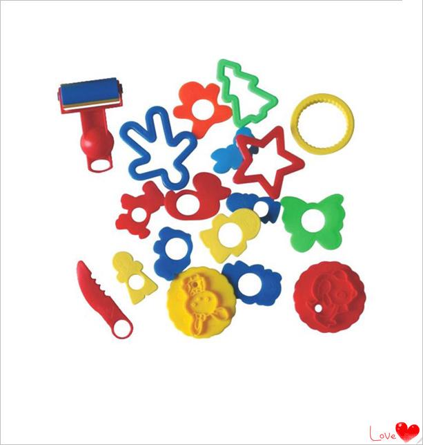 Hot sale!2015 Hot sale children's creative cartoon plastic plasticine tool mold fancy toy dough plasticine tools(China (Mainland))