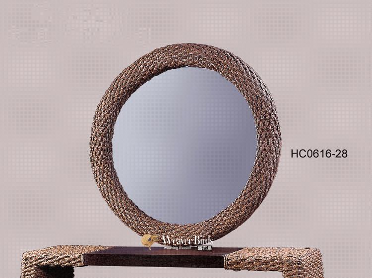 Weaver - rattan furniture, rattan furniture, bedroom wall mirror wall mirror mirror entrance rattan - Ti Asia round mirror(China (Mainland))