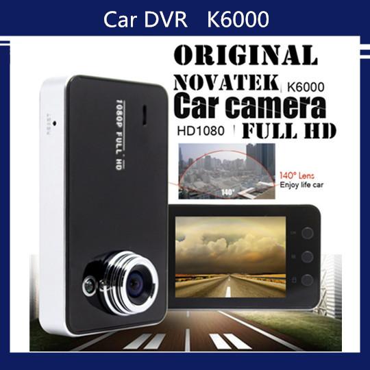 HD k6000 1080p 720p car dvr car camera novatek black box digital video cameras vehicle dash cam dvr video recorder vs gs8000l(China (Mainland))