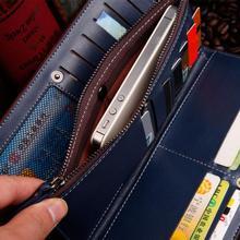 Fashion Plaid PU leather men wallet high quality solid color long paragraph men wallets clutch bag
