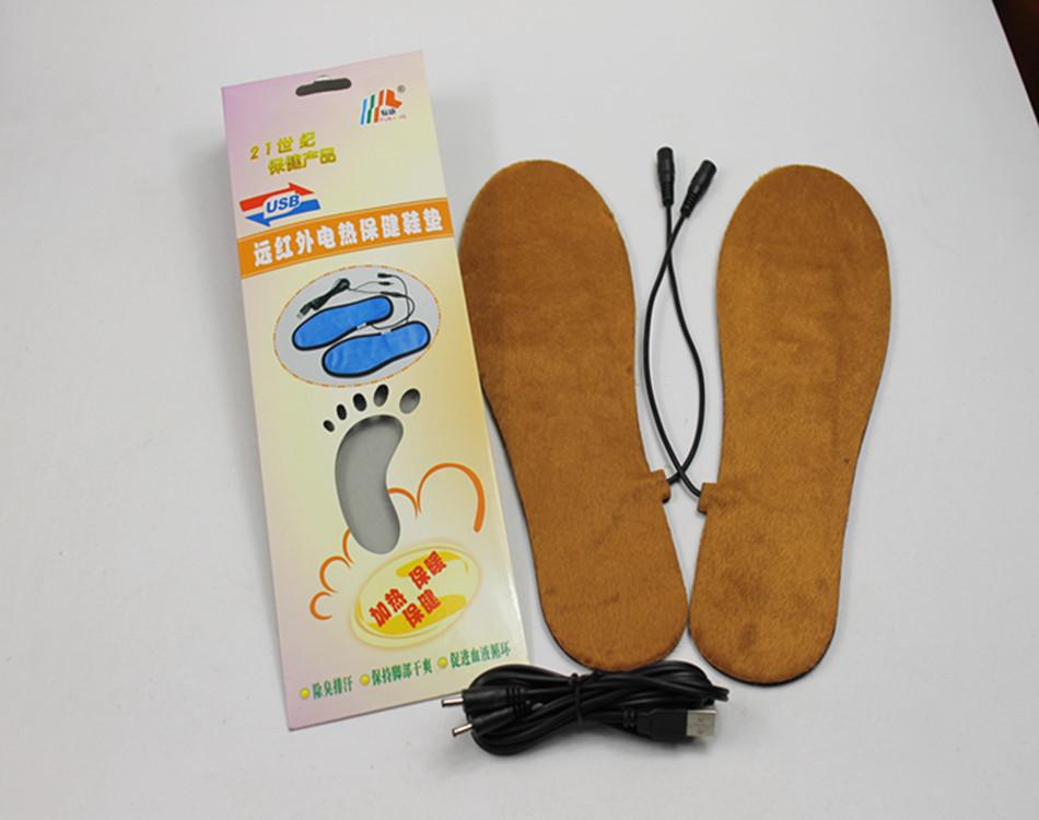 usb電気fkusb温水インソール靴のヒーター屋外インソールウォッシャブル男女兼用フリーサイズ(China