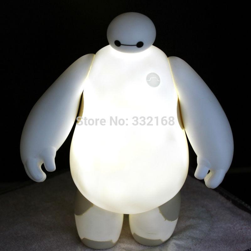 BayMax LED Big Hero 6 BayMax Light Night White Table Lamp Bedroom Decoration,1pc(China (Mainland))