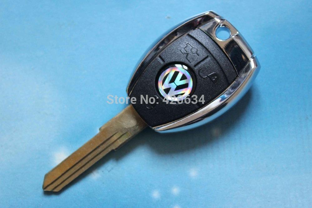 10pcs/lot High Quality VW Transponder Key Shell Volkswagen Key Blank Case + Free Shipping(China (Mainland))