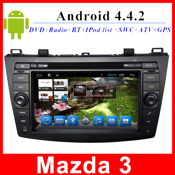 Автомобильный DVD плеер LG 2 din 8/dvd gps mazda 3 android 3G WIFI TV AUX Bluetooth внешний dvd привод lg bp50nb40 black