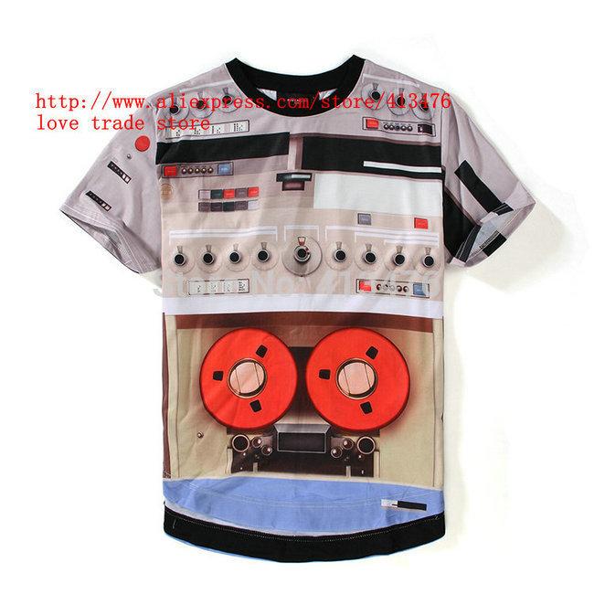 Robot Clothing Logo Fashion Robot Print O-neck