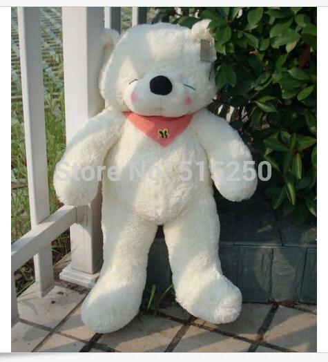New Soft Big Sleepy Stuffed Animal Plush Doll Toy Teddy Bear Gift 80cm White(China (Mainland))