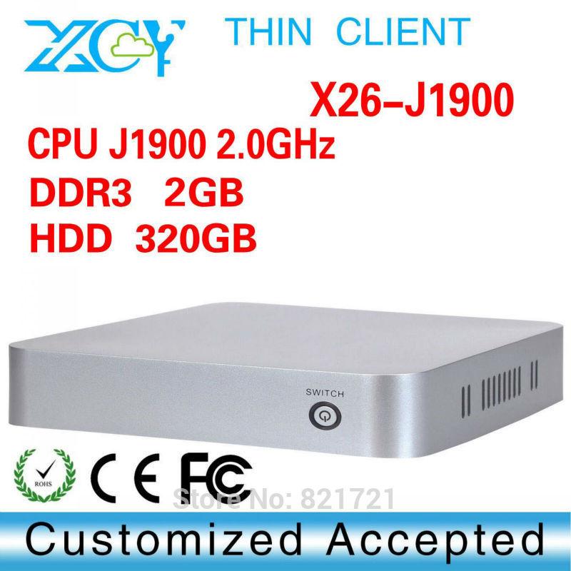 2015 New Plam size mini computer micro pc desktop Intel Celeron quad core X26-J1900 2g ram 320g hdd smallest computer(China (Mainland))