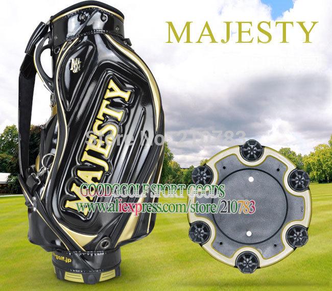 "Hot sale Maruman New Golf bag high quality PU golf Cart Bag 9.5Inch With""Black/White golf clubs bag Freeshipping(China (Mainland))"
