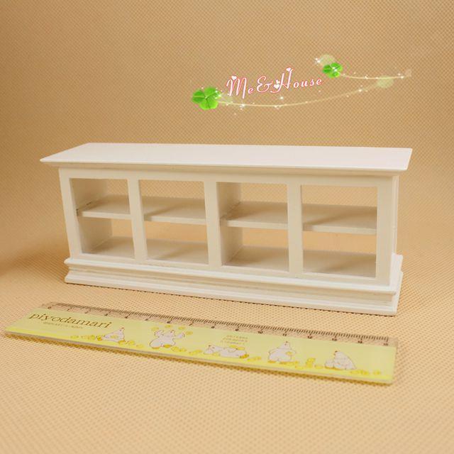 G05-X082 children baby gift Toy 1:12 Dollhouse mini Furniture Miniature baby wooden white Cake cabinet 1pcs(China (Mainland))
