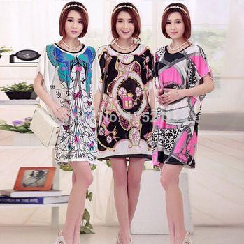 Новый 2015 весна и летнее платье, женская одежда, Большой размер платья свободного покроя женщины одеваются. вышитые платья бесплатная доставка