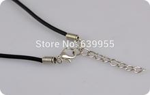 20pcs 45cm 18 Black Rubber Necklace for Pendant Quality Cord 2mm String Strap Choker Necklace DIY
