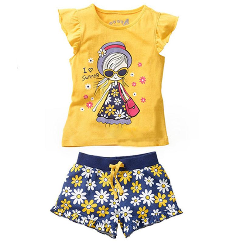 Summer Clothes Cartoon Summer Casual Clothes Set