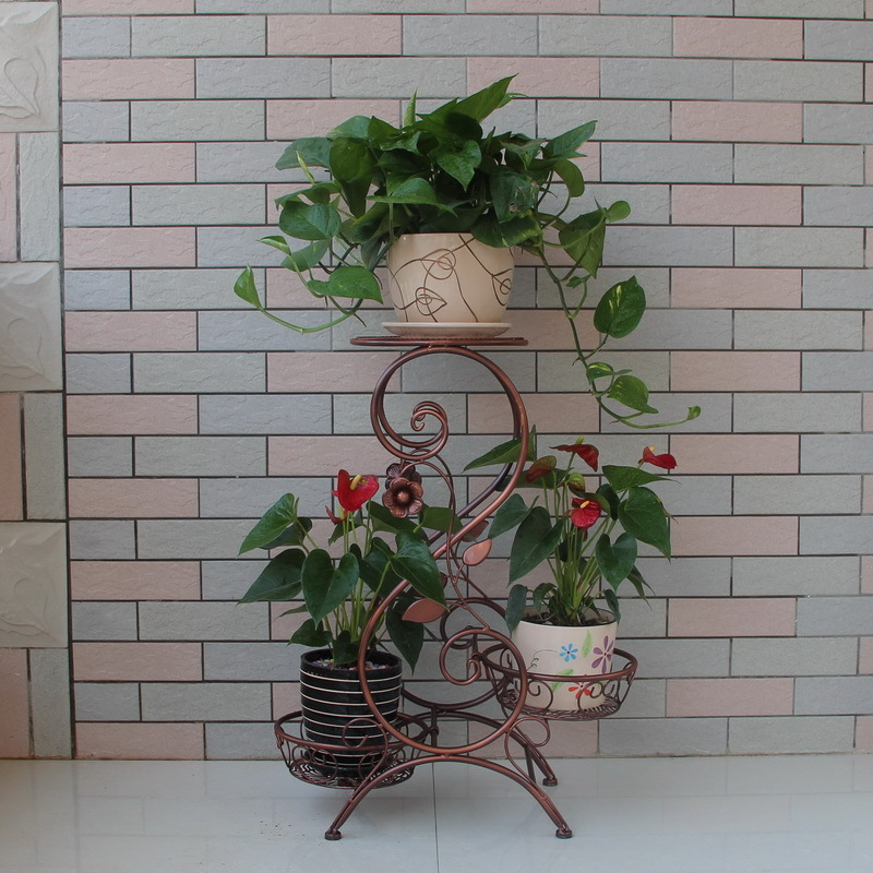 Popular outdoor metal plant stand buy cheap outdoor metal plant stand lots from china outdoor - Steel pot plant stands ...