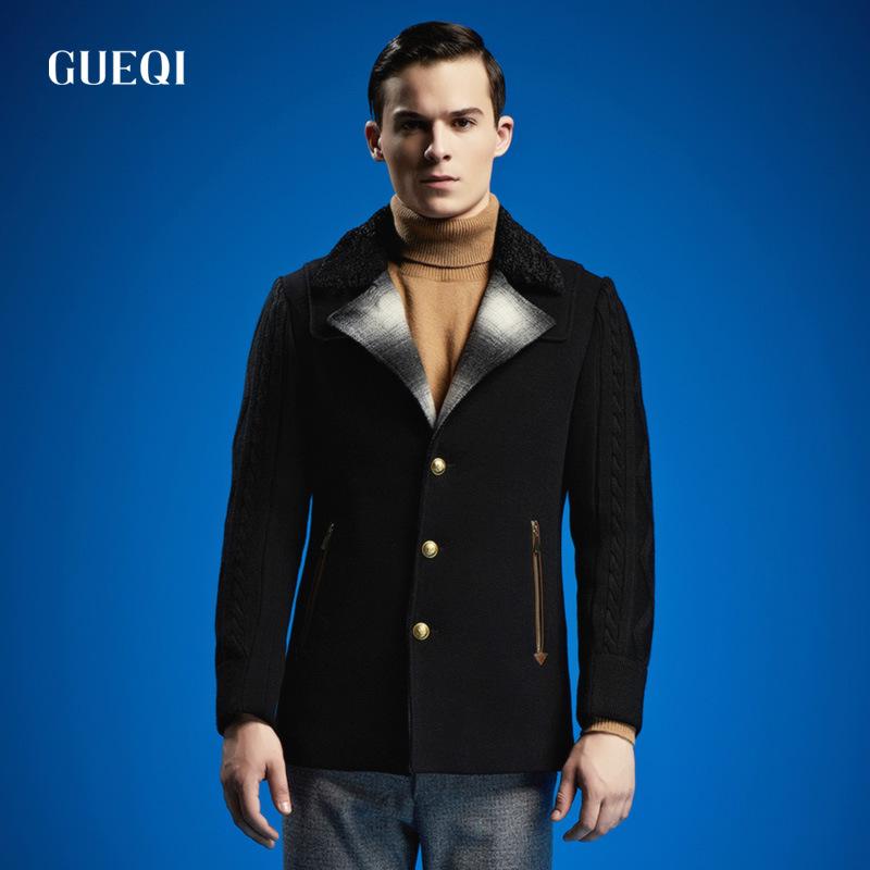 Real High Quality Mens Designer Clothing Jacket Windbreaker Wool Winter Black Men's Trench Coat Men British Style Trench Coat(China (Mainland))