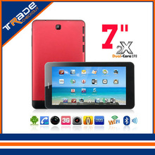 Cheapest High Quality 7 inch Dual Core tablet pc dual Camera android 4 2 Capacitive Screen