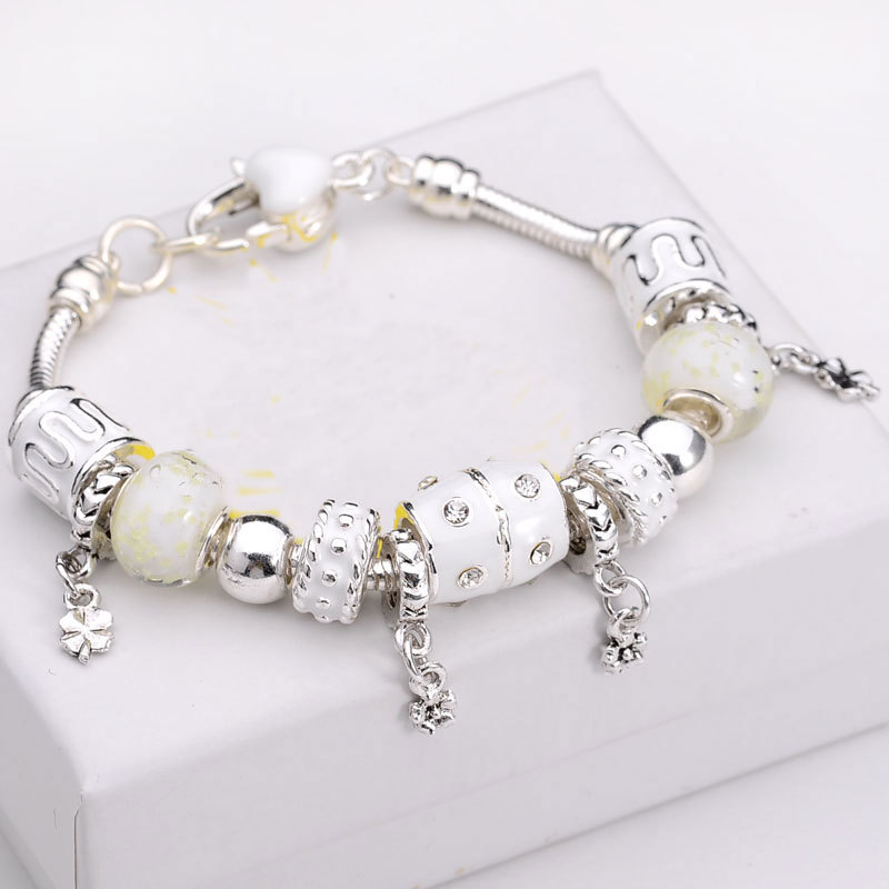 2015 New Arrival 15 colors Silver Charm Bracelet Fits Pandora Bracelet 925 Sterling Silver Bracelet Bangle