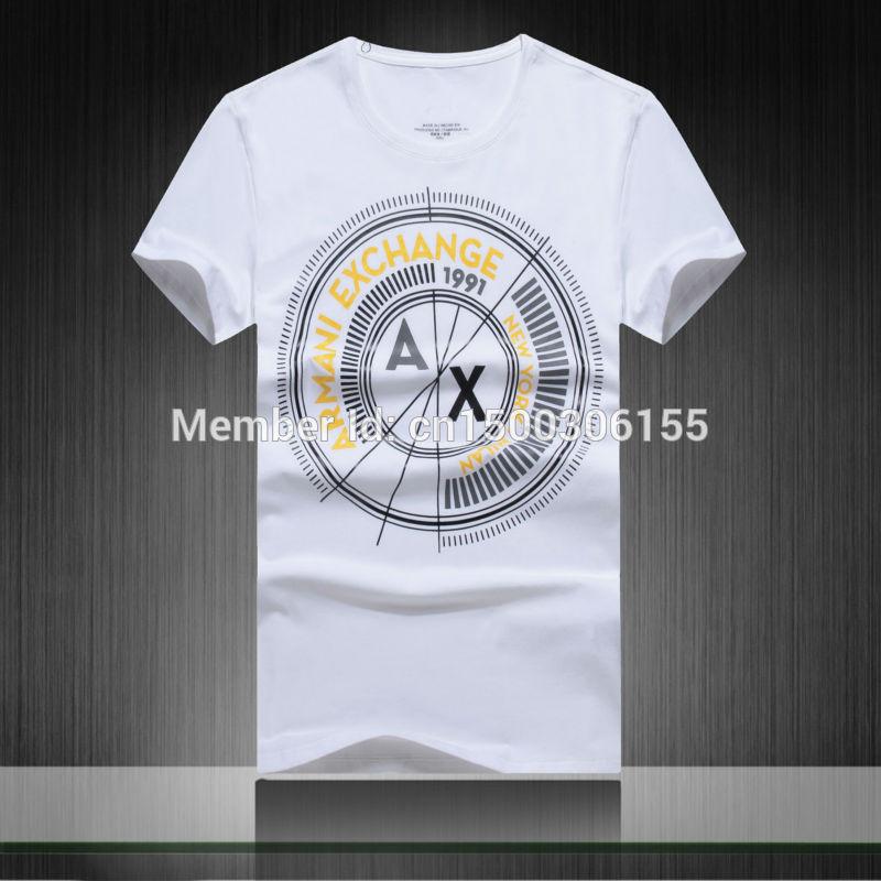 Men Fashion Brand Logo 2015 Fashion Men Brand Design Top Quality Summer t Shirts Print Causal