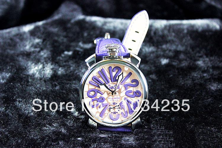 Gaga watch fashion big dial mechanical needle gaga milano watch as gift(China (Mainland))