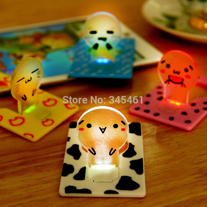 10x Led Pocket card Light Mini Portable Folding LED Wallet Card Light Lovely Pocket LED Light Lamp for promotion 4Color Avalible(China (Mainland))