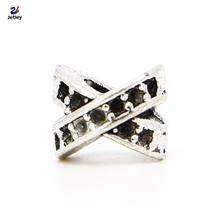 New Free Shipping 1Pc 925 Silver Jewelry Double Ribbon Silver Bead Charm European Bead Fit Pandora BIAGI Bracelet Bangle