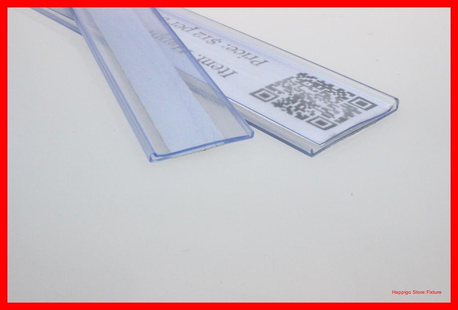 17mm*100CM with tape Flat adhesive price snap label holder strip shelf talker PVC data strip(China (Mainland))