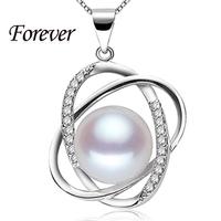 100% immer 10-11mm natürliche perle anhänger halskette Top-Qualität 925 silber halskette& Anhänger für frauen Liebe geschenk neue mode