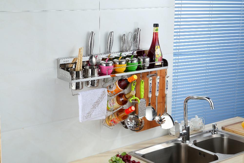 Keuken Wandplank : keuken wandplank opslag manden met kruiden rek ...