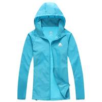 2015 Brand Women+Men Unisex Summer Skin Fishing Thin Quick Dry Jackets Outdoor Sports Waterproofbrand sweatshirt  Coats