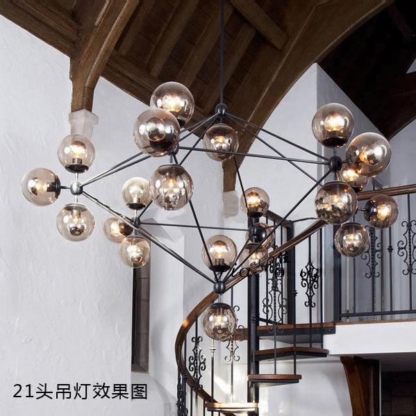 North American type IKEA personality magic multi ball chandelier DNA molecular fashion dining room Villa Hotel lighting(China (Mainland))