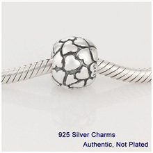 Fits Pandora Bracelet DIY Making Authentic 100 925 Sterling Silver Beads Heart Charm 2014 New Jewelry