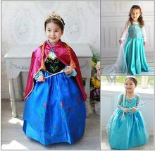 Hot 2015 Summer Girls Dress Baby Kids Clothes Elsa Anna Princess Party Dresses Vestidos Infants Children