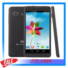 Original New ZTE U889 LC1813 Quad Core Mobile Phone Android 4.2 512M RAM 4GB ROM 5″ TFT Capacitive Screen 5MP Camera GPS GSM