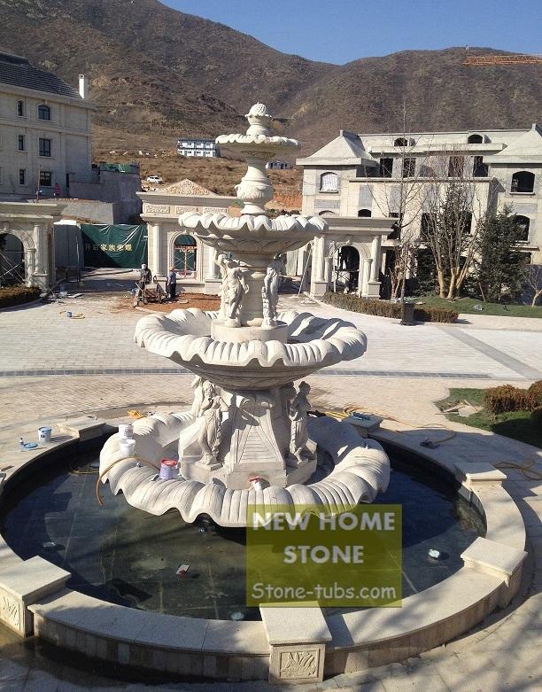 pedras grandes jardim:Jardim-fontes-de-pedra-grande-Hotel-Villa-fonte-4-camadas-enorme