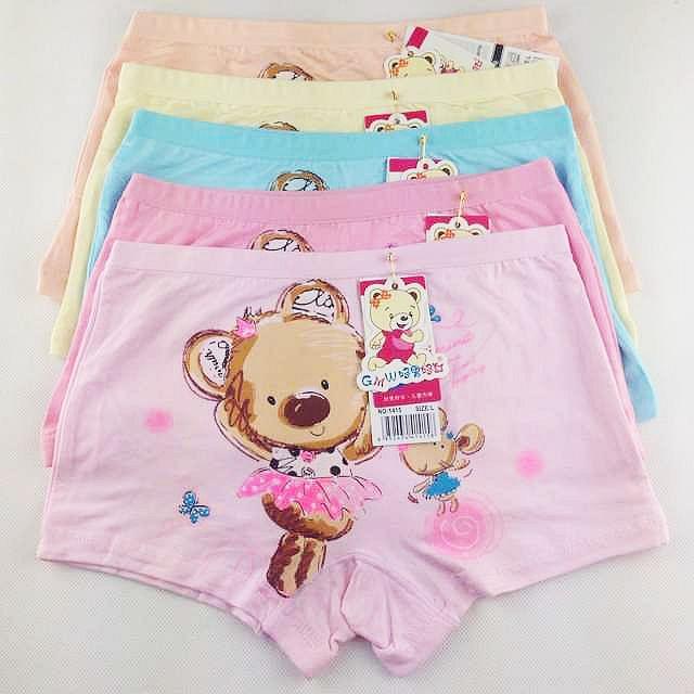 5PC/Lot Baby boys and girls cartoon panties bear underwear shorts kids briefs children Random Colors(China (Mainland))