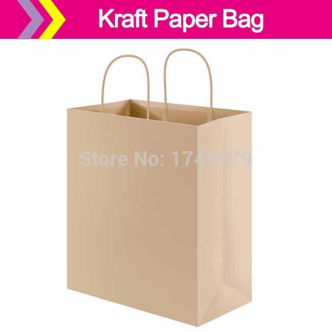 Cheap Brown Paper Bag with Handle/Brown Kraft Paper Bag/Coffee Bag Custom Printed Paper Bags with Logo Design(China (Mainland))