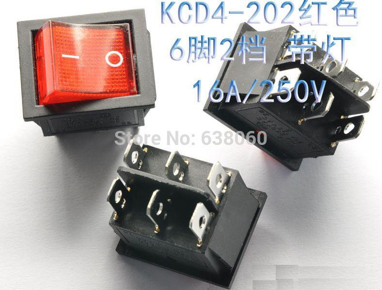 Кулисный переключатель OEM 10pcs/lot AC 250 16 6/dpst KCD4-202 10pcs lot nt5tu64m16gg ac