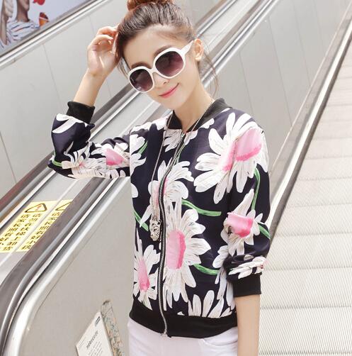 6Colors New Casual Women Baseball Jacket Sweater Loose Coat Outerwear Sweatshirt Tops CYLL(China (Mainland))