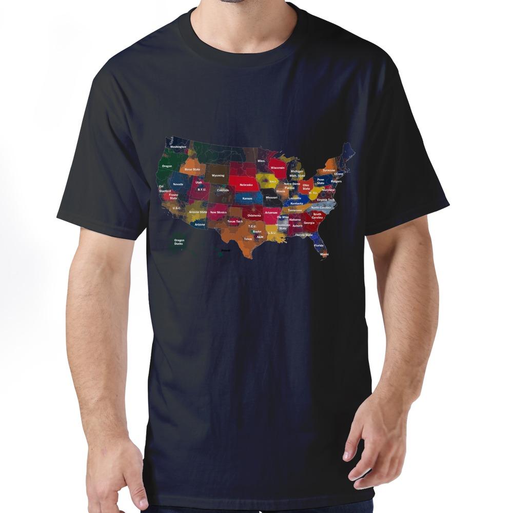 Normal American Football Main Map boyfriend t shirt Drop Shipping Sport Pre-cotton Man tees shirt(China (Mainland))