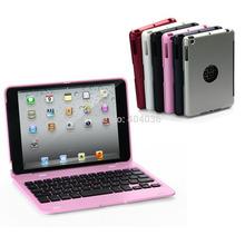 New Ultra-Slim Rigid Plastic Bluetooth Keyboard Cover Case For iPad Mini 3 2 1(China (Mainland))