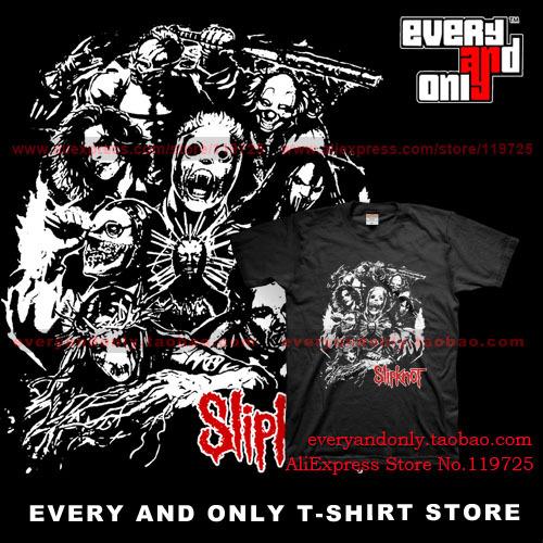 Slipknot banda Nu metal máscara camiseta impressão ocasional T-shirt Tee vestido camiseta pano tshirt(China (Mainland))