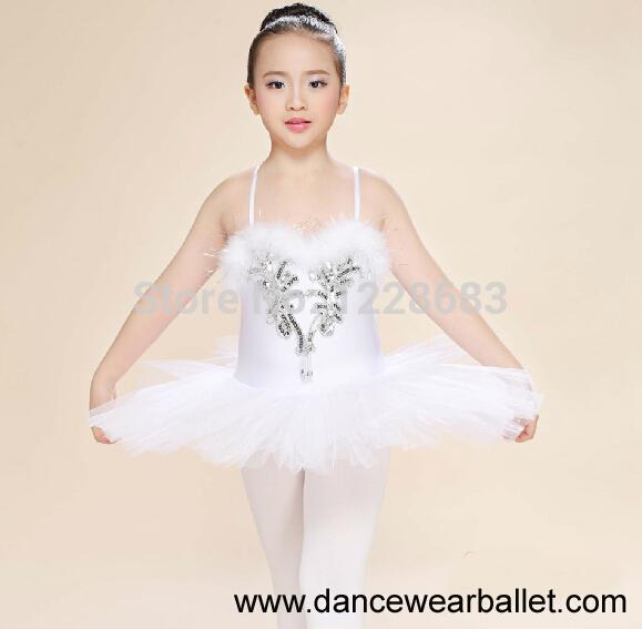 new sequin pancake tutu white swan lake ballet costume girls ballerina